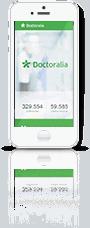 Smartphone com marca Doctoralia